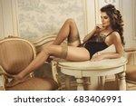 sexy woman wearing beautiful...   Shutterstock . vector #683406991