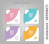 infographics template of four... | Shutterstock .eps vector #683408671