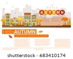 hello autumn cityscape...   Shutterstock .eps vector #683410174
