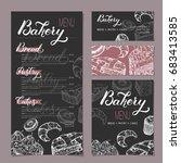 set of bakery shop templates... | Shutterstock .eps vector #683413585