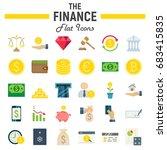 finance flat icon set  business ... | Shutterstock .eps vector #683415835