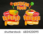 set of traditional mexican food ... | Shutterstock .eps vector #683420095