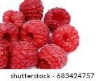 fresh raspberries fruit... | Shutterstock . vector #683424757