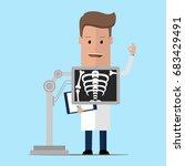 roentgenologist doctor during... | Shutterstock .eps vector #683429491