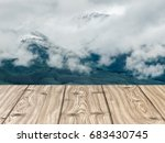 wooden board empty table in... | Shutterstock . vector #683430745