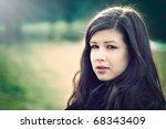 closeup fashion portrait of... | Shutterstock . vector #68343409