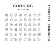 cooking related set line icons... | Shutterstock .eps vector #683436871