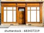vintage shop windows and... | Shutterstock . vector #683437219
