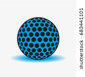 golf ball | Shutterstock .eps vector #683441101
