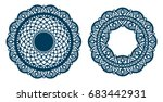 set of laser cut paper lace... | Shutterstock .eps vector #683442931