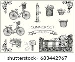 vector illustration. set of... | Shutterstock .eps vector #683442967