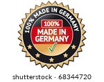 made in germany label   Shutterstock .eps vector #68344720