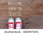 back to school and education... | Shutterstock . vector #683447641