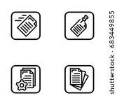 set of document management... | Shutterstock .eps vector #683449855
