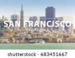 san francisco bay  city with... | Shutterstock . vector #683451667