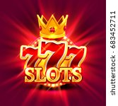 big win slots 777 banner casino ... | Shutterstock .eps vector #683452711