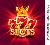 big win slots 777 banner casino ... | Shutterstock .eps vector #683452711