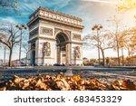 Arc De Triomphe Located In...
