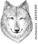 the vector logo wolf  for t... | Shutterstock .eps vector #683459389