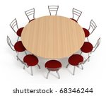 Round Table With Chairs ...