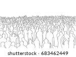 illustration of large mass of... | Shutterstock .eps vector #683462449