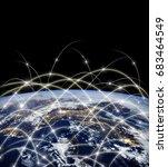 earth from space. best internet ... | Shutterstock . vector #683464549