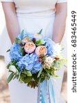 Bridal Bouquet Of Blue...
