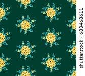seamless floral pattern.... | Shutterstock .eps vector #683468611