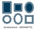 laser cut template collection.... | Shutterstock .eps vector #683468731