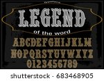 script handcrafted vector... | Shutterstock .eps vector #683468905