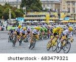 paris   jul 23  team sky and... | Shutterstock . vector #683479321
