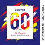 31 august   malaysia... | Shutterstock .eps vector #683485069