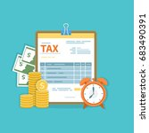 tax payment concept. government ... | Shutterstock .eps vector #683490391