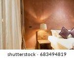 hotel bedroom  modern bright... | Shutterstock . vector #683494819