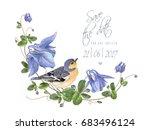 vector wedding save the date... | Shutterstock .eps vector #683496124