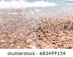 sea surface summer wave... | Shutterstock . vector #683499154