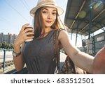 Travel selfie. beautiful and...
