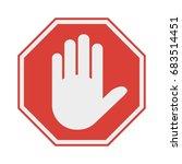 red octagonal stop sign arm....   Shutterstock .eps vector #683514451