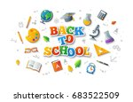 back to school colorful... | Shutterstock .eps vector #683522509