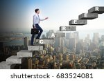 businessman climbing career... | Shutterstock . vector #683524081