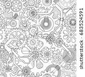 clockworks mechanism in... | Shutterstock .eps vector #683524591