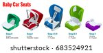 isometric baby car seat group 0 ... | Shutterstock . vector #683524921