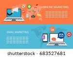 digital marketing banners... | Shutterstock .eps vector #683527681