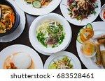 exotic vietnamese cuisine... | Shutterstock . vector #683528461