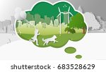 green renewable energy ecology... | Shutterstock .eps vector #683528629