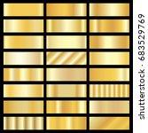 collection of golden gradient... | Shutterstock . vector #683529769