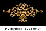 gold  silver decoration element ... | Shutterstock . vector #683538499