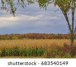 Beautiful Autumn Farm Scene In...
