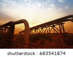 oil pipeline  the oil industry... | Shutterstock . vector #683541874