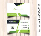 business card with green...   Shutterstock .eps vector #683545111